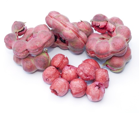 Manila tamarind fruit isolated on the white background photo