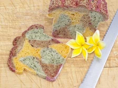 The colorful of bread photo