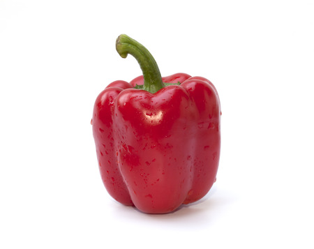 Red bell pepper isolated on the white background photo