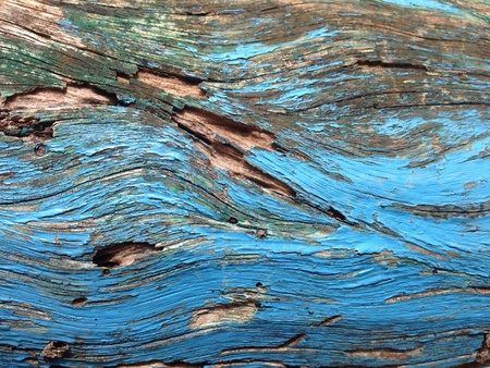Blue paint wooden background Stock Photo