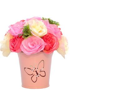 artificial flower: Artificial flower with flowerpot