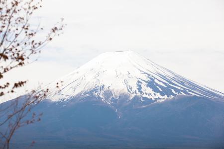 cloud capped: View of Mount Fuji from Kawaguchiko in April