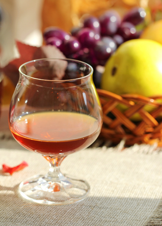 cognac: Cognac and fruit