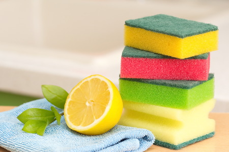 lemon: House producto de limpieza Foto de archivo