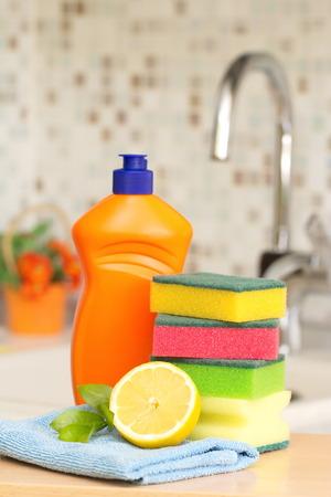 Schoonmaakproduct voor het huis Stockfoto