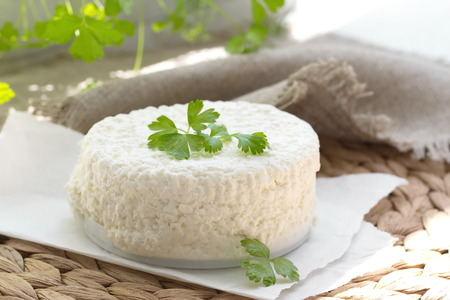 cottage cheese: Fresh cottage cheese