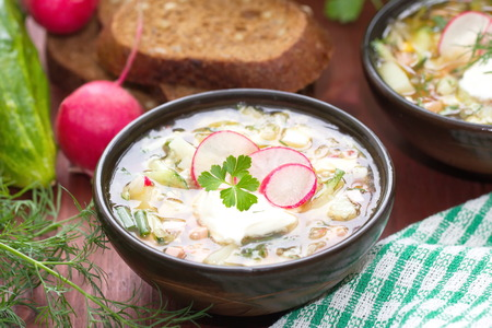 cold: Russian cold soup okroshka