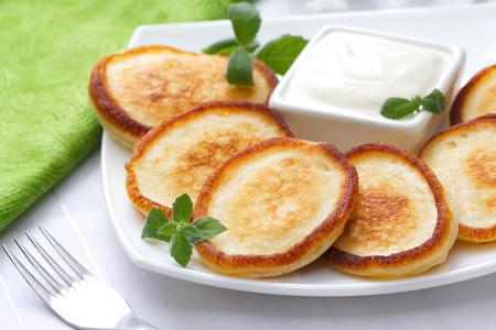 sour cream: Pancakes with sour cream
