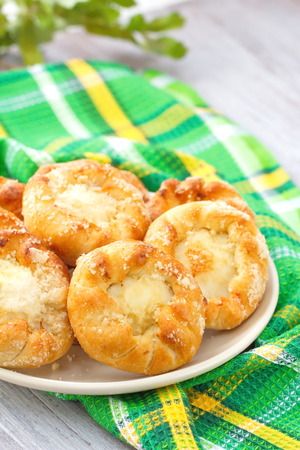 cottage cheese: Sweet patties with cottage cheese Stock Photo