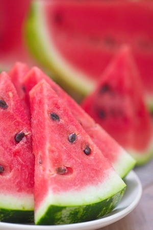 Segmenten van watermeloen