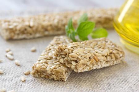 semillas de girasol: Gozinaki. Bares dulces con semillas de girasol y caramelo.