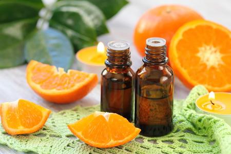 candle: Orange essential aroma oil
