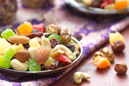 Energie Pause. Trockenfrüchte und Nüsse. Standard-Bild - 46209111