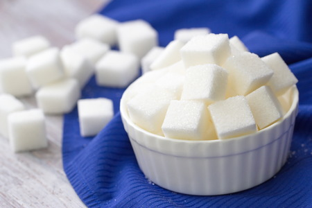 close up food: Sugar refined