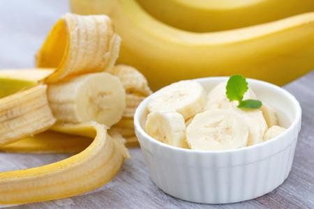 sweet segments: Fresh bananas Stock Photo