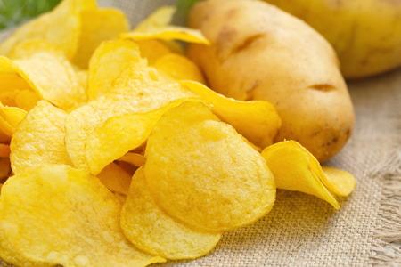 finocchio: patatine fritte con sale e finocchietto Archivio Fotografico