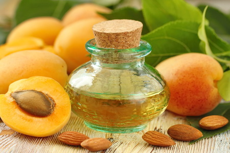 Apricot aroma oil and fresh fruit