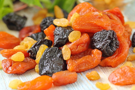 Sortiment von getrockneten Früchten. Gesundes Essen