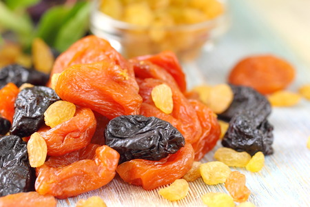 Assortment of dried fruit. Healthy food