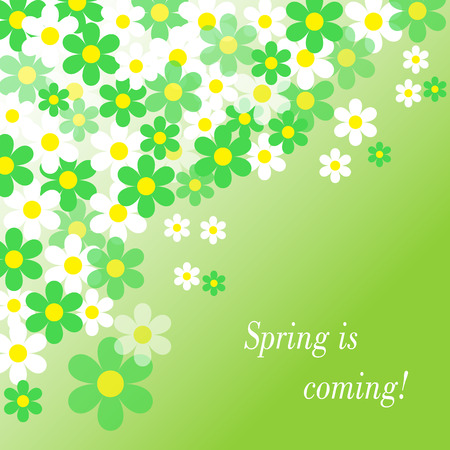 Spring is coming. Floral spring background