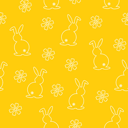 primeval: Simple seamless pattern with rabbit