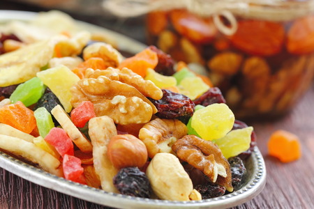 Energy break. Dried fruit and nuts