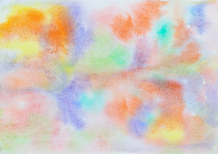 Abstract painted colorful watercolor background with light colors