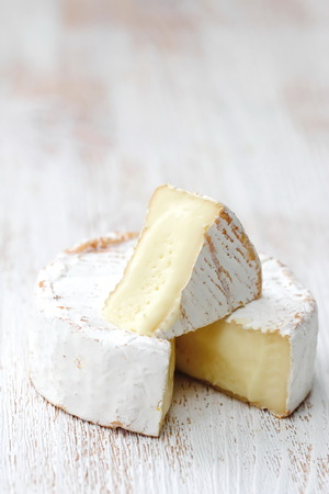 Brie type of cheese. Camembert cheese. National cuisine 写真素材