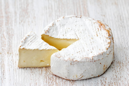 Brie type of cheese. Camembert cheese. National cuisine Banco de Imagens