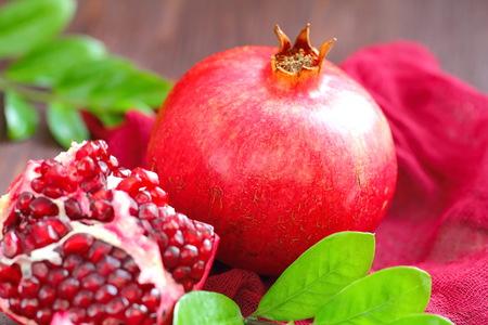 Ripe Red Pomegranates