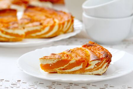 Pumpkin and cottage cheese casserole for breakfast