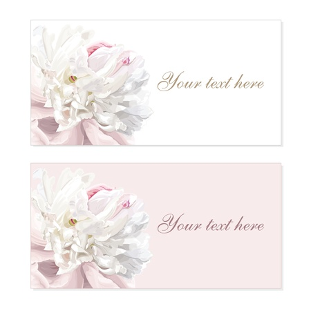 Greeting cards with luxurious flower cards painted in pastel colors