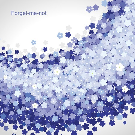 Forget-me-not flower blue background