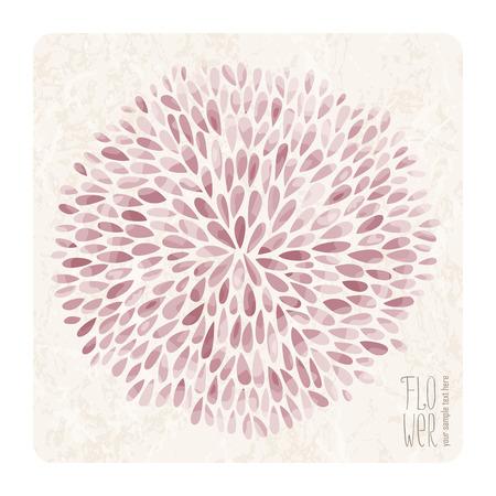 Abstracte Aster bloem met veel gekleurde bloemblaadjes op grunge achtergrond