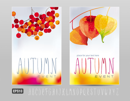 Two posters for autumn events and sales