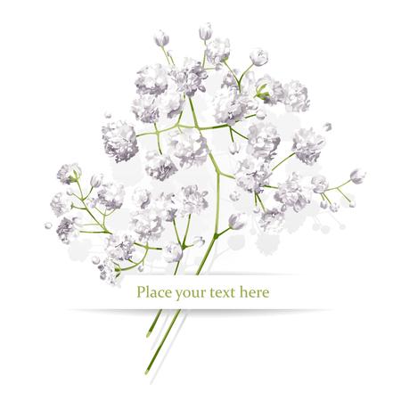 Vintage petites fleurs blanches bouquet pour la Saint Valentin, mariage, ventes et autres événements peint dans le style d'aquarelle