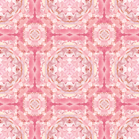Abstract seamless floral oriental-style pattern in pink Illustration