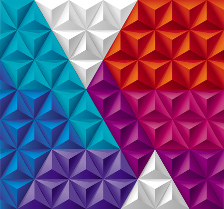 background purple: Modern Triangles and Pyramids geometric background