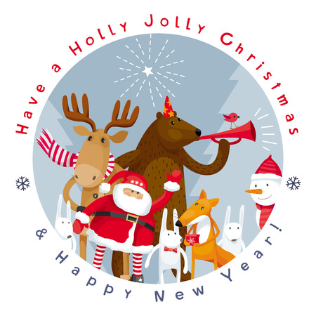 Have a Holly Jolly Christmas and Happy New Year! Vector image for greeting cards, posters, banners, sales and other winter events.