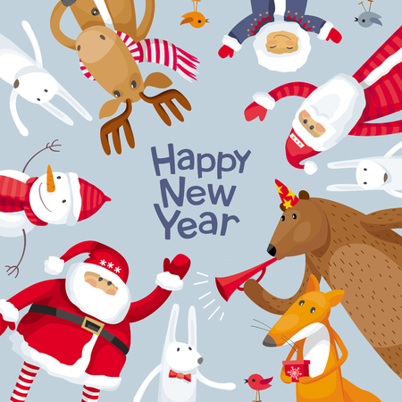 Vector Merry Christmas image for greeting cards, posters, banners, sales and other winter events.
