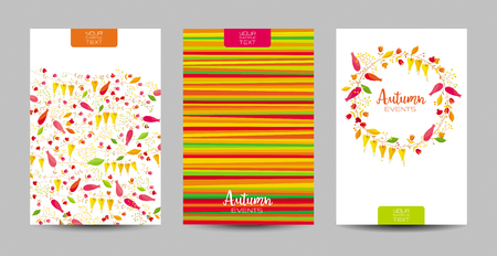 Vector set of the strips and floral autumn patterns and wreath of flowers for Valentines Day, wedding,  Mothers Day,  advertising ,  greeting cards, invitations, sales and other events