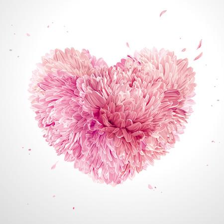 Serce z kwiatów na Walentynki Ilustracje wektorowe