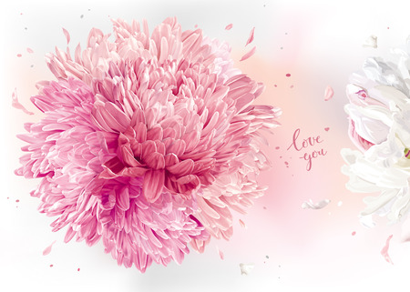 Luxurios floral background for Valentines Day, wedding, Mothers Day and other events.