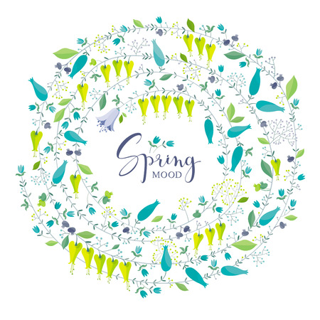 Floral vector composition of spring flowers for Valentines Day, wedding,  Mothers Day, sales and other events, for prints, greeting cards, posters, invitations.  Illustration