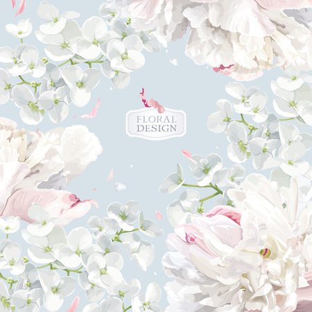 Chrysanthemums and Apple blossom floral composition.  Flower vector background  in watercolor style for greeting card, wedding invitations, decoration, posters, banners, sales Zdjęcie Seryjne - 95282734