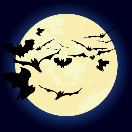 Halloween moon Vector