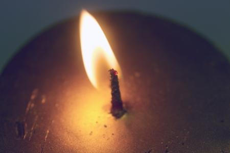 Christmas magic gold candle - christmas fire