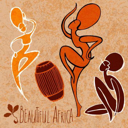 Baile estilizada muchacha africana