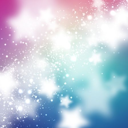 deep pink: Abstract background with stars Illustration