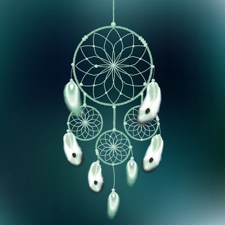 atrapasueños: dreamcatcher ilustración vectorial Vectores